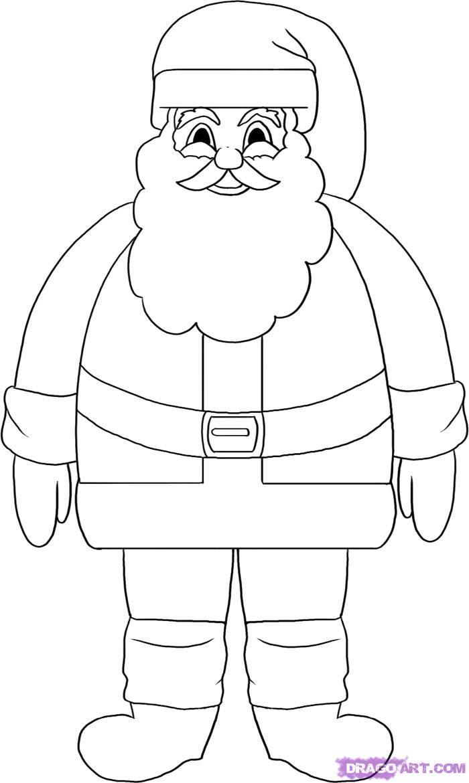 Santa Drawing   Mad for Christmas   Pinterest   Christmas stencils
