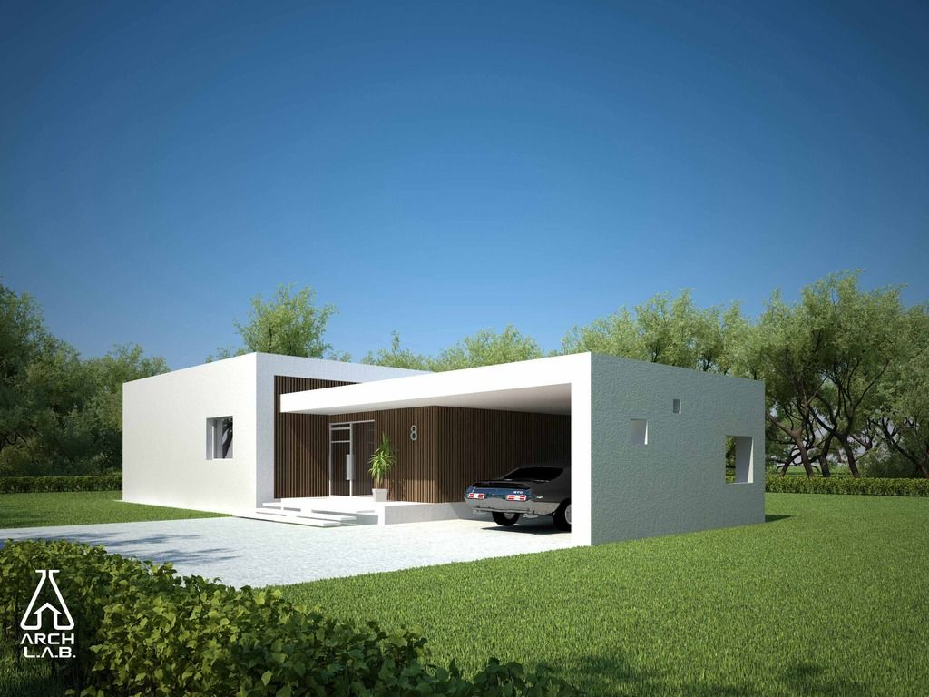 Plano de casa minimalista 1 pinterest planos de for Planos de viviendas modernas