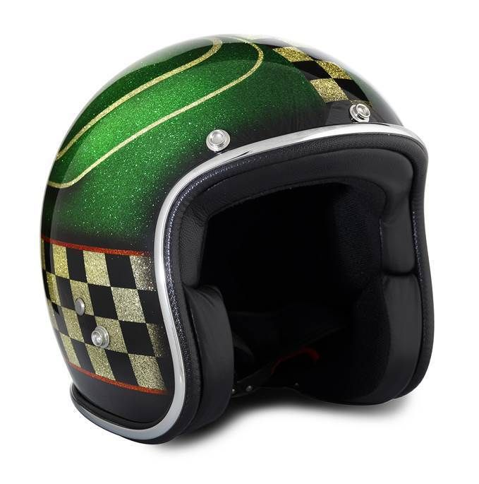 Seventies Vintage Racer Super Flake Open Face Vintage Helmet Motorcycle Helmets Vintage Open Face Helmets