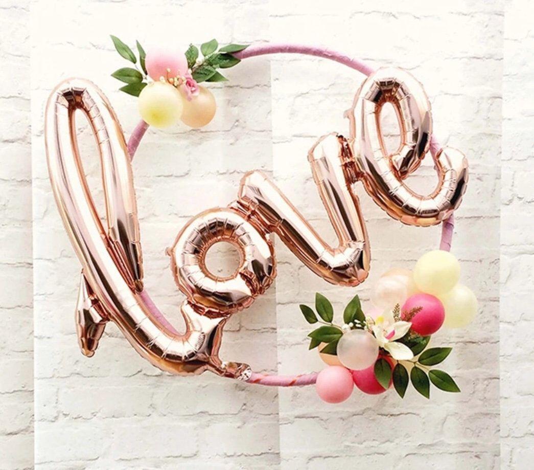 Wedding//Valentine/'s Day Jumbo Giant Love Word Letter Foil Balloon Decoration