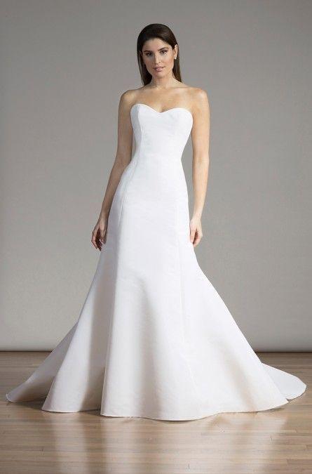 6a27e46f7dd Liancarlo Style 6861 Silk faille empire strapless mermaid gown in Silk White