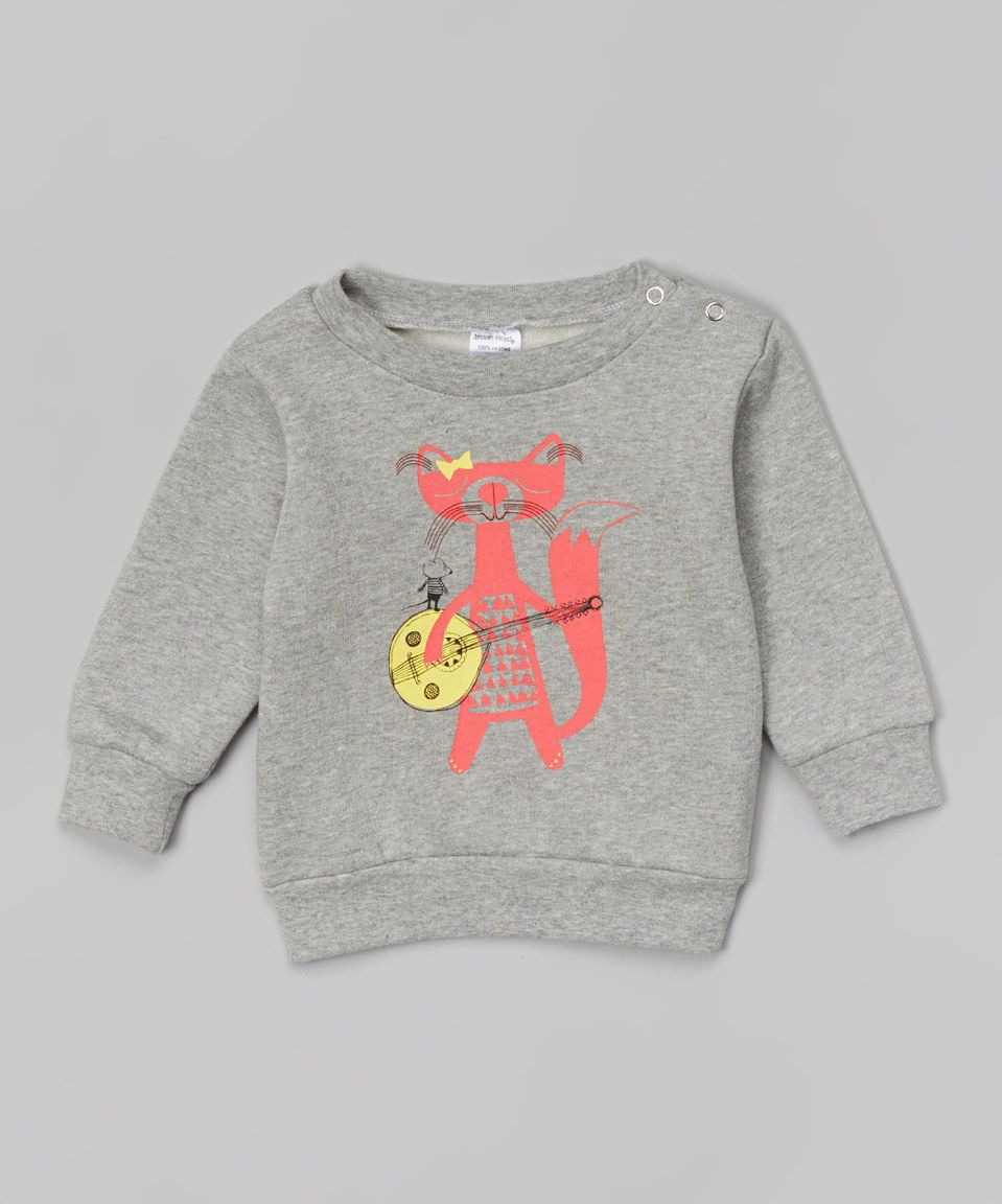 Look what I found on #zulily! Marle Banjo Cat Organic Sweater - Infant, Toddler & Girls by Broken Tricycle #zulilyfinds