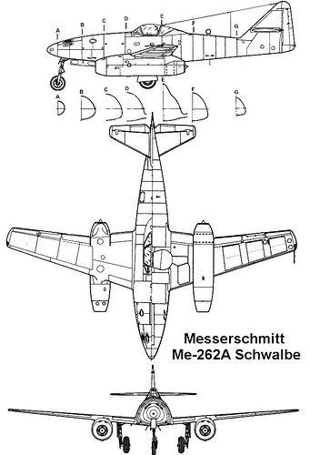 messerschmitt me 262a 3v