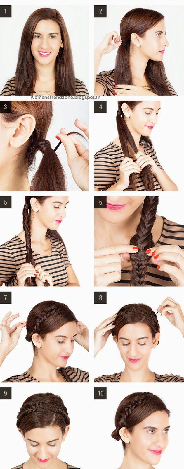 Step by step easy hairstyles instruction for longmediumshort hair