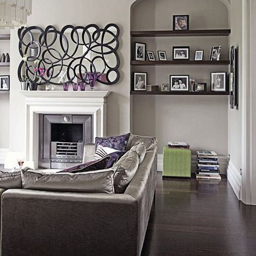 Grey And Purple Living Room modern chic grey and purple living room | living rooms, gray and room