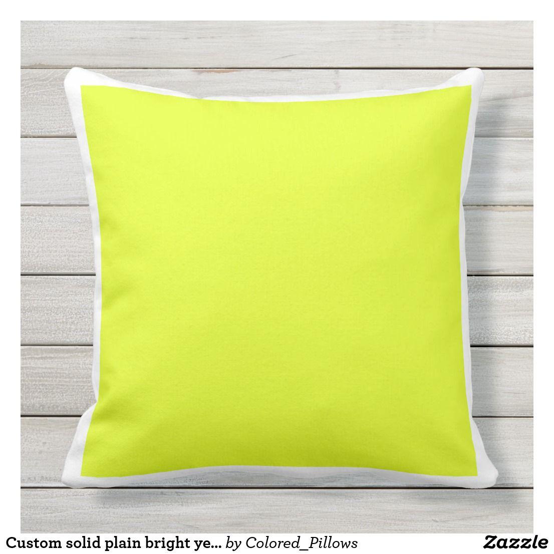 Custom Solid Plain Bright Yellow White Frame Yellow Decorative