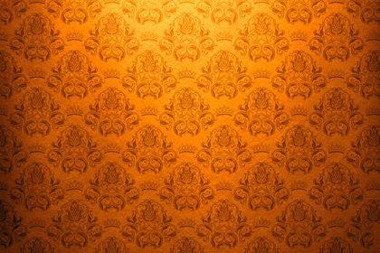 Orange Vintage Damask Background Luxury Baroque Swirl Tiled Orange Decorative French Fashion Retro Paper Background Vintage Damask Pattern Wallpaper