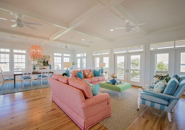 Wilmington, North Carolina Based Interior Designer Hooper Patterson Is The  Talent Behind This Super Fun Vacation Home On Topsail Island Built
