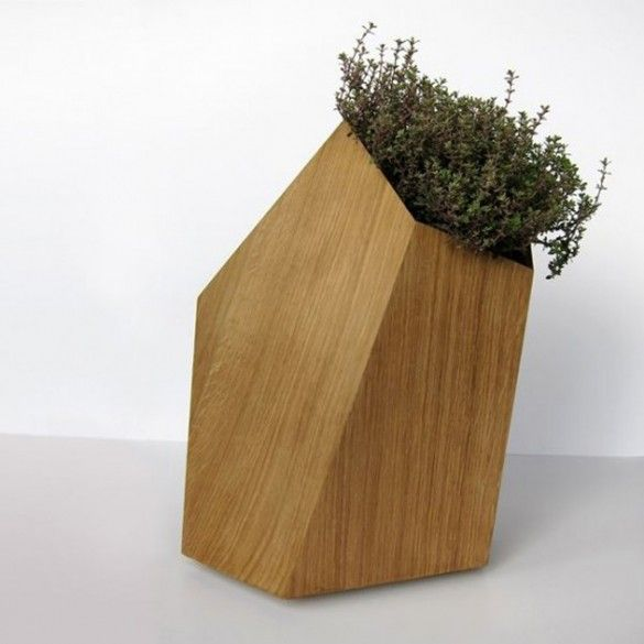 Wooden Small Planter