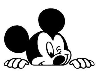 Disney mickey mouse minnie mouse window decal vinyl sticker car vehicle