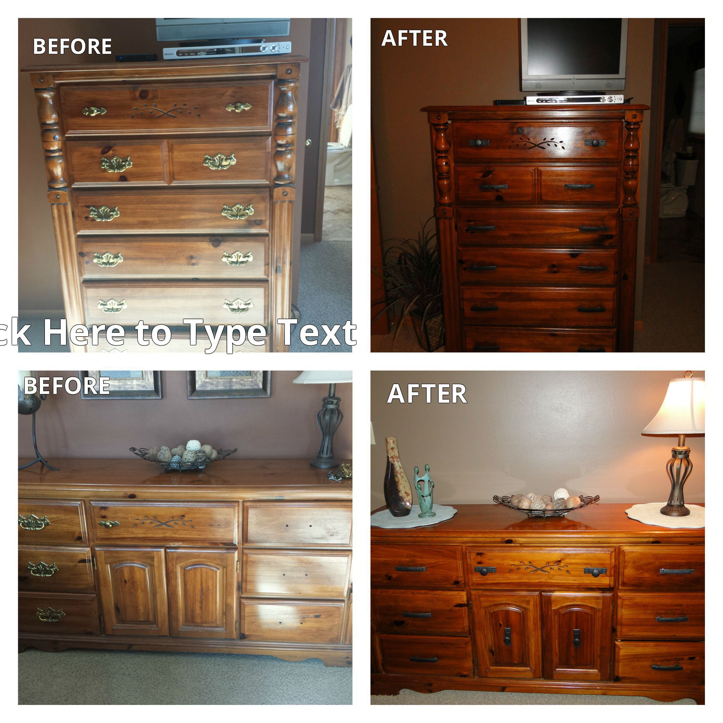 How to make your older furniture look new again. This bedroom set ...