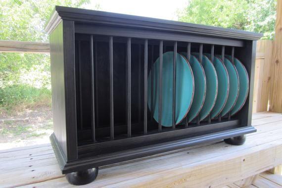 Plate Rack,  Counter Top Plate Rack, Wood Plate Rack #plateracks