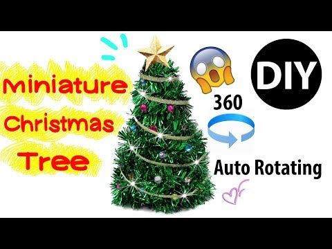 How To Make Miniature 360 Rotating Christmas Tree With Simple Homopolar  Motor For Dolls. This DIY Miniature Spinning Christmas Tree Is Perfect For  Any ...