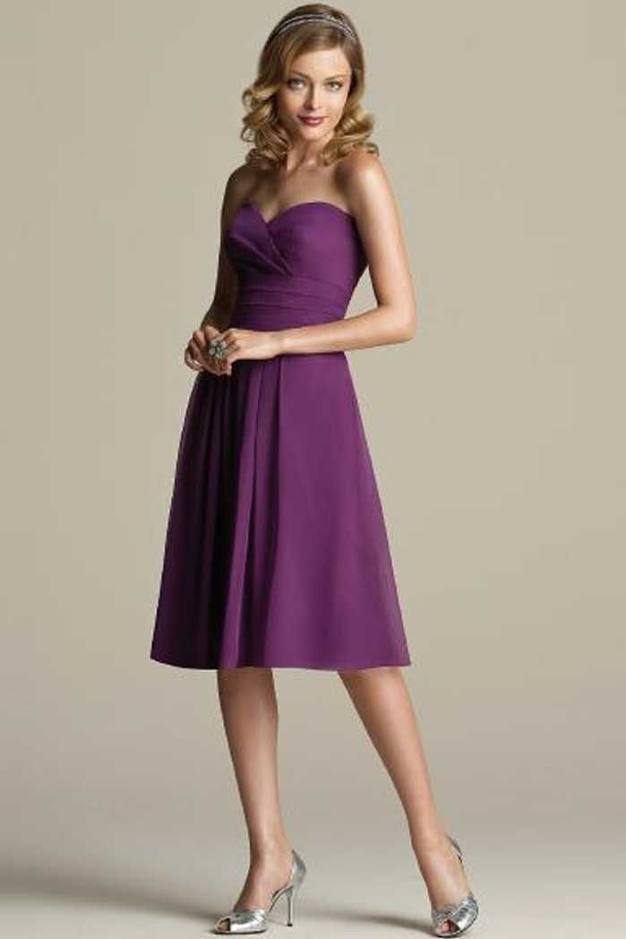 La Femme 2017 Chiffon Grape Keen Length Bridesmaid Dresses Online ...