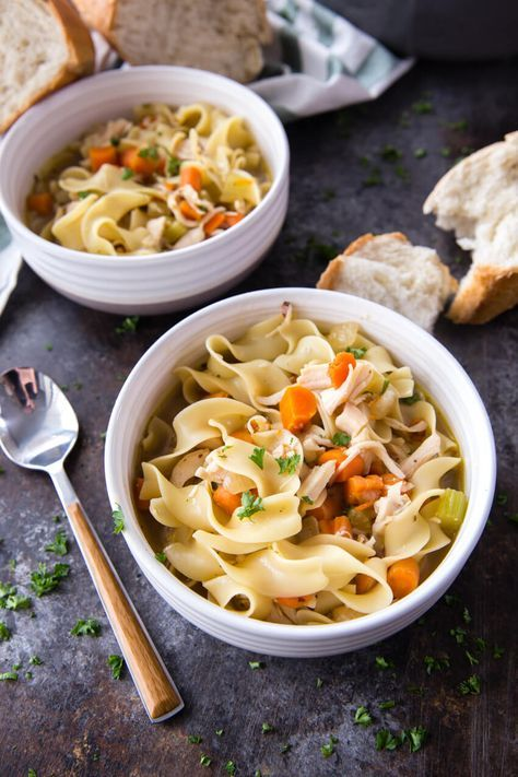 rotisserie chicken noodle soup with images  chicken