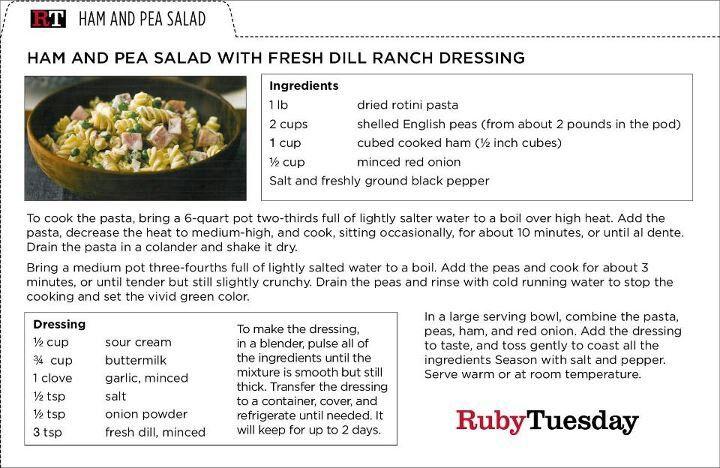 recipe: ruby tuesday ham and pea pasta salad recipe [32]