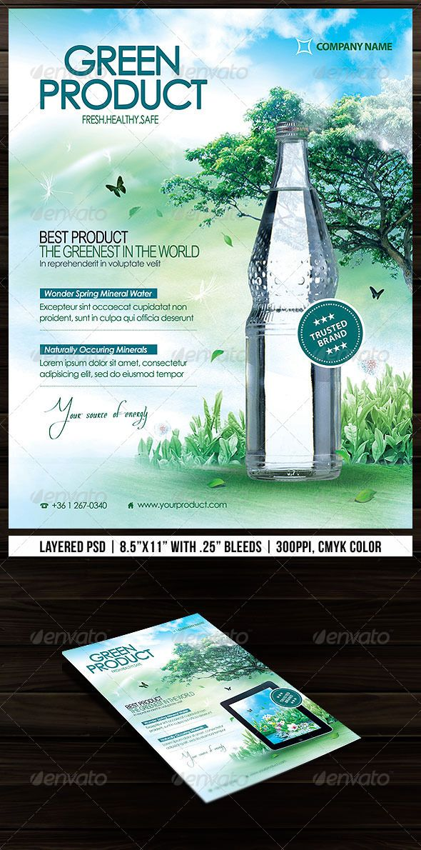 Green Product Flyer  Graphicriver  Sweet Free Direct Download