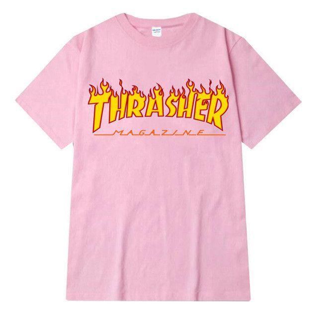 Thrasher Skater T-Shirt Pink  62396722e