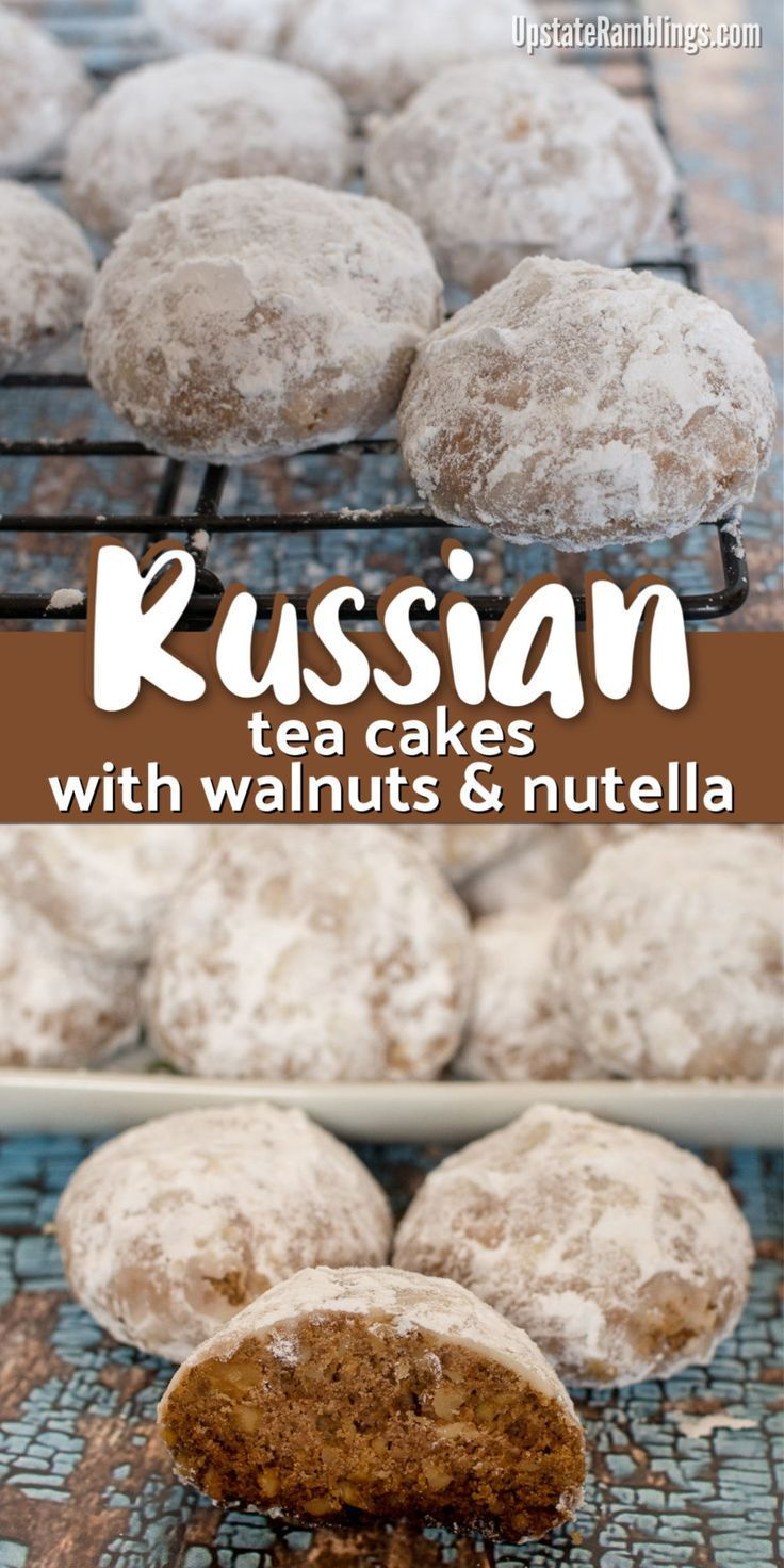 Russian tea cakes Snowball cookies Russian Tea Cakes Snowball cookies or Mexican Wedding Cake cookies are a crumbly and buttery winter treat  a yummy Christmas cookie Fun...