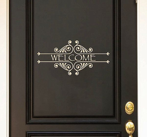 Decals aren\u0027t just for your walls. Why not add one as a welcome & Door Decals Give Life to Your Home Design | Front doors Doors and ... Pezcame.Com