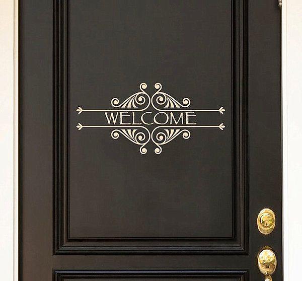 Welcome door decal & Door Decals Give Life to Your Home Design | Front doors Boots and ... Pezcame.Com