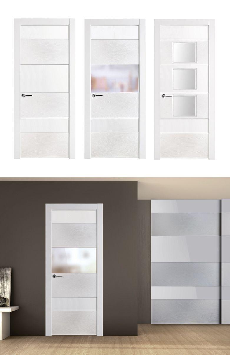 Puerta De Interior Blanca Modelo Vanir De La Serie Imagin De  ~ Precio Puerta Lacada Blanca Instalada