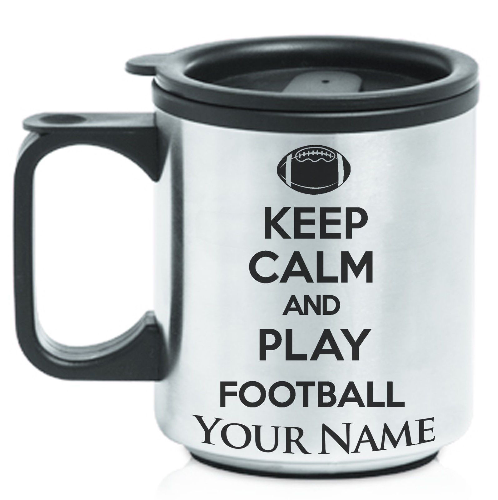 Travel Play FootballPersonalized Coffee Calm MugKeep And vf67IYbgym