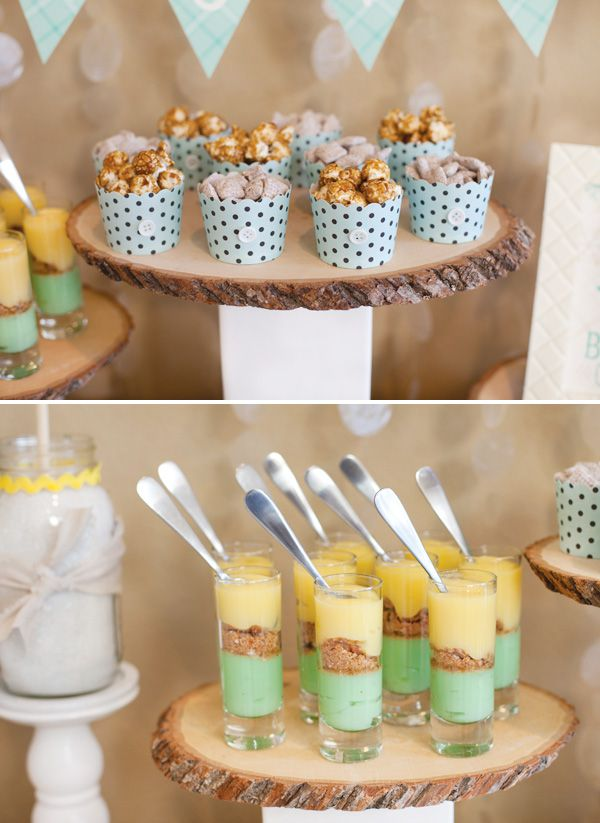 Bundle Up, Baby! Winter Baby Shower {Part 2   Mini Desserts + Hot Cocoa Bar