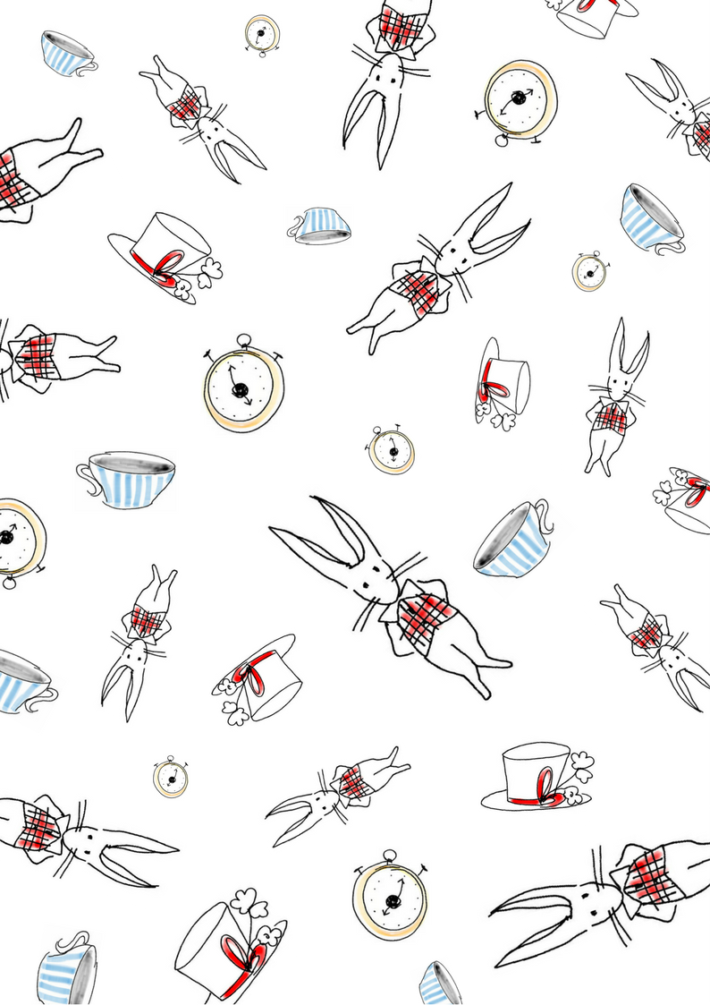 Alice In Wonderland Wrapping Paper Diy Free Printable