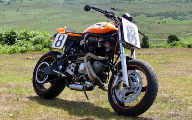 RocketGarage Cafe Racer Buell M2 Cyclone XR750 Tribute