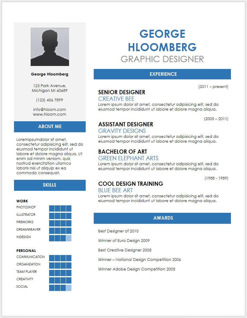 45 free modern resume / cv templates minimalist, simple reverse chronological template format for interior designer chipotle example