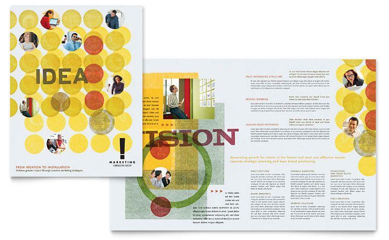 Marketing Consultant Brochure Template Design  Branding Ideas