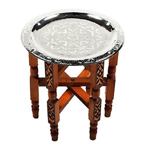 Marokkanischer Teetisch Orient Orientalischer Couchtisch Klapptisch Tee Tisch Beistelltisch