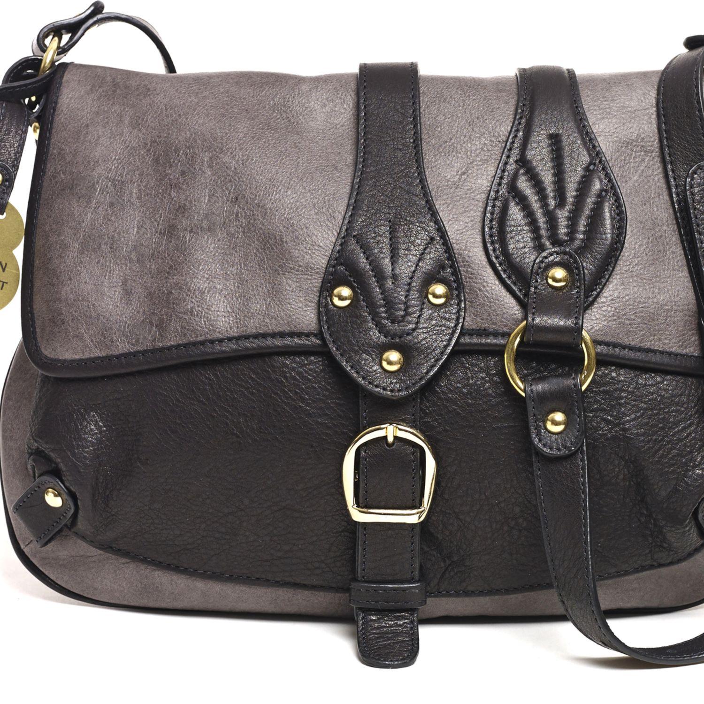 Barnard Crossbody, Charcoal/Black - Hayden-Harnett Handbags & Accessories Online Store