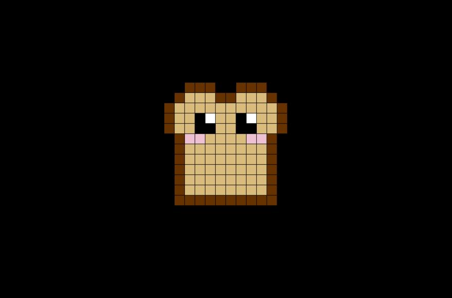 Toast Pixel Art Pixel Art Nourriture Art Minecraft Et