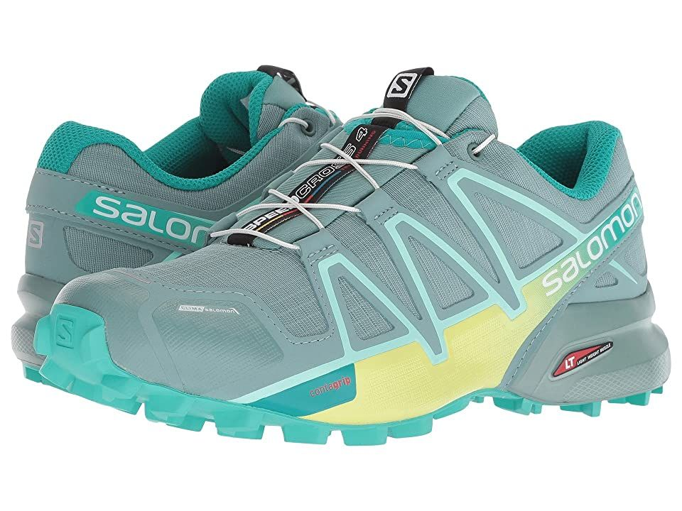 Salomon Speedcross 4 Cs Trellis Sunny Lime Atlantis Women S Shoes You Re A Force To Be Reckoned With When You Step Onto The Cou In 2020 Running Shoes Shoes On Shoes