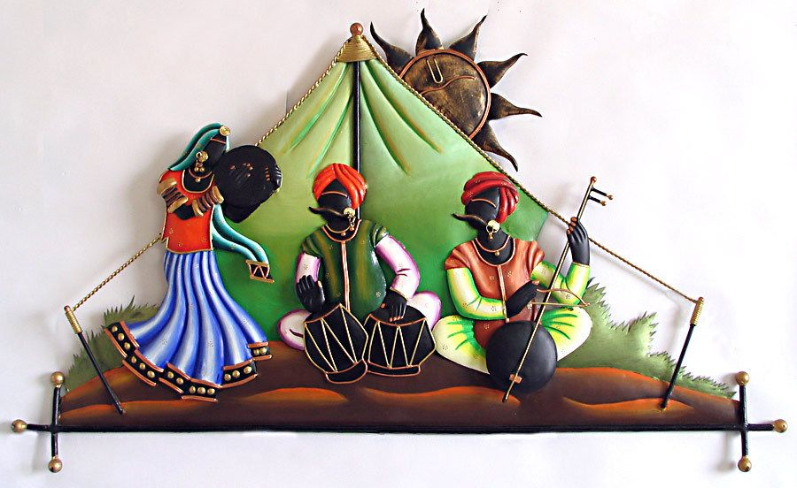Rajasthani Musicians In The Desert Wall Hanging Wall Hanging