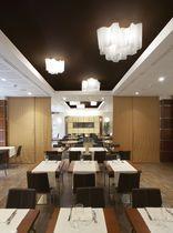 Original design ceiling light / glass / blown glass / halogen