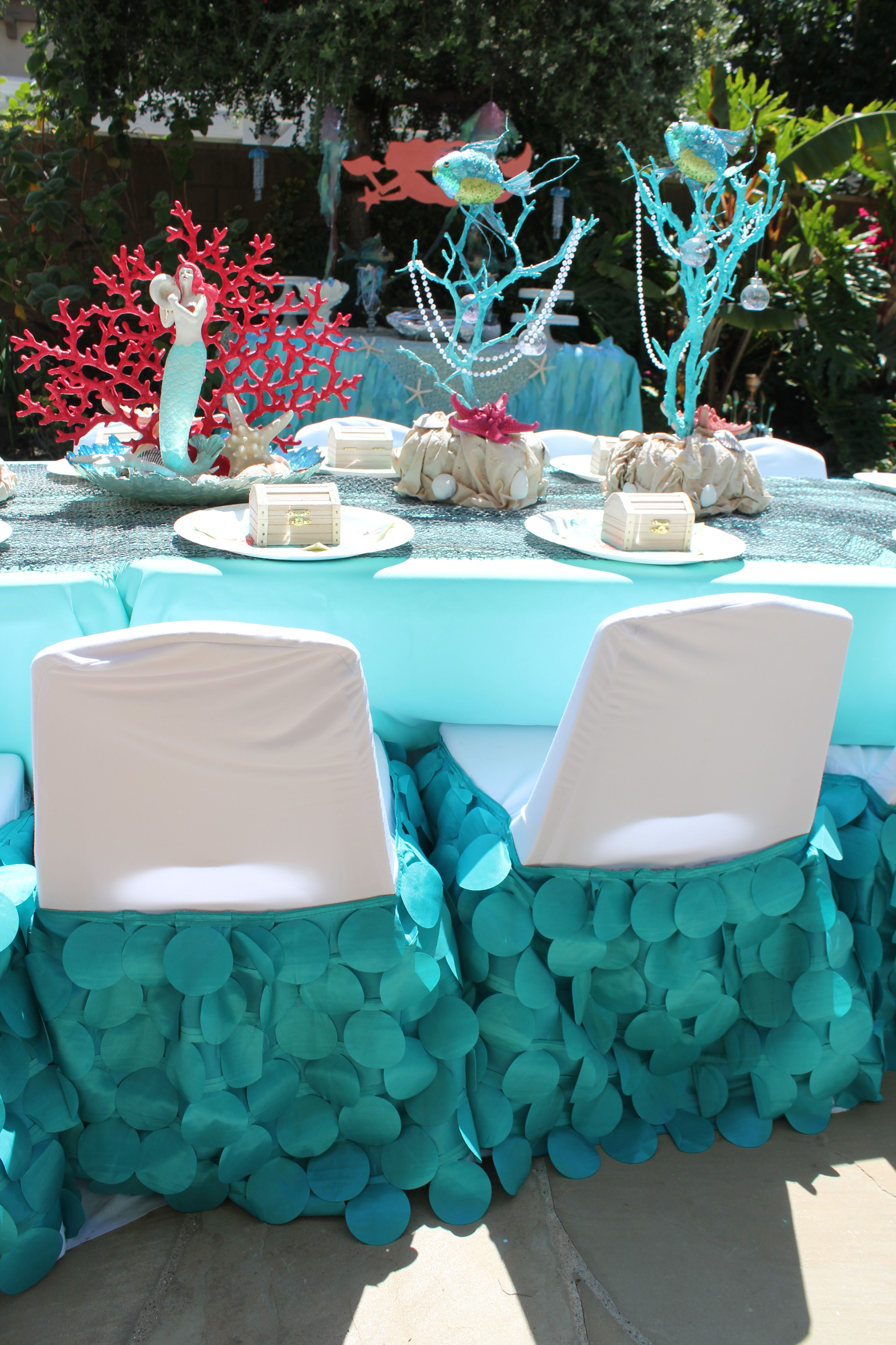 Beau Mermaid Party   Beautiful Custom Made Mermaid Tail Kids Chair Covers, We  Specialize In Kid Sized Party Rentals And Provide Custom Made Chair Covers  To Match ...