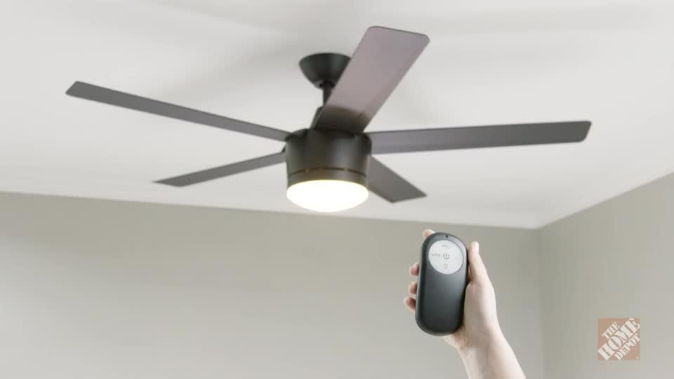 Home decorators collection merwry 52 in led indoor matte black home decorators collection merwry 52 in led indoor matte black ceiling fan sw1422mbk at the aloadofball Image collections