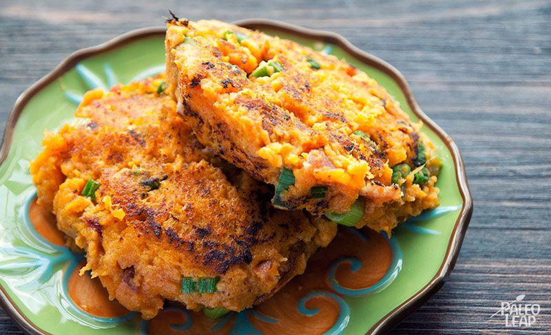 Batatovo – slaninové placky