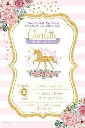 Unicorn Invitations Party Supplies Birthday Ideas