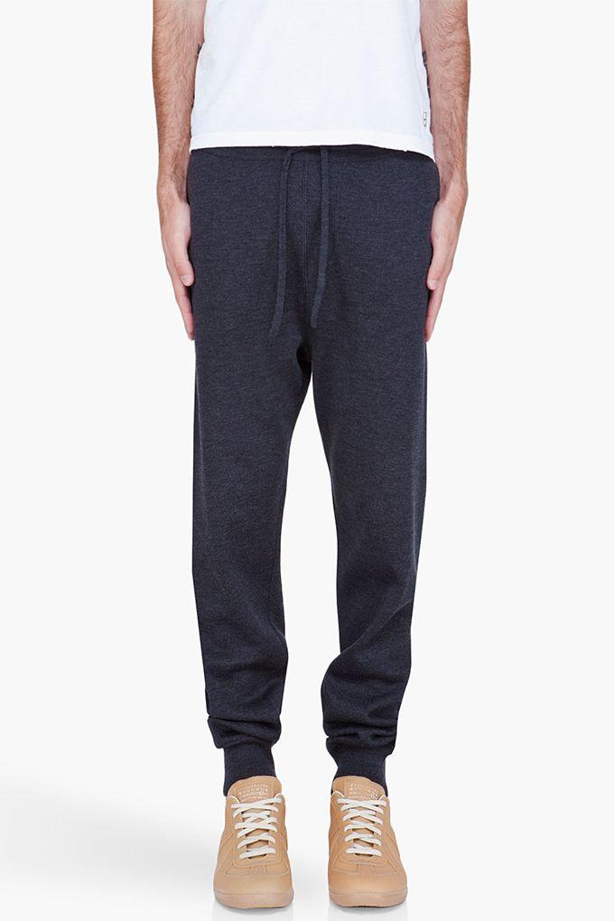 Lanvin Charcoal Milano Stitch Lounge Pants
