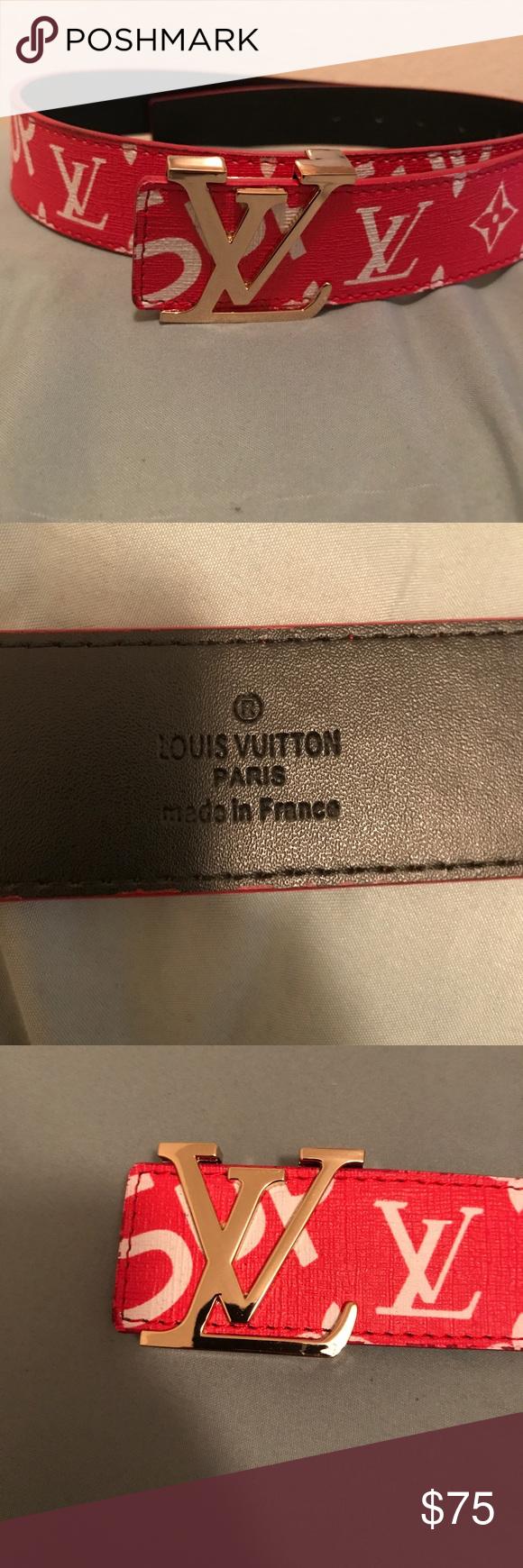 Supreme Louis Vuitton Belt 32 34 Accessories Belts