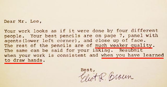 Painful Rejection Letters To Famous People Proving You Should