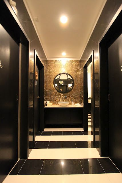 Home Styling Dark Public Restrooms I Did Black And Gold