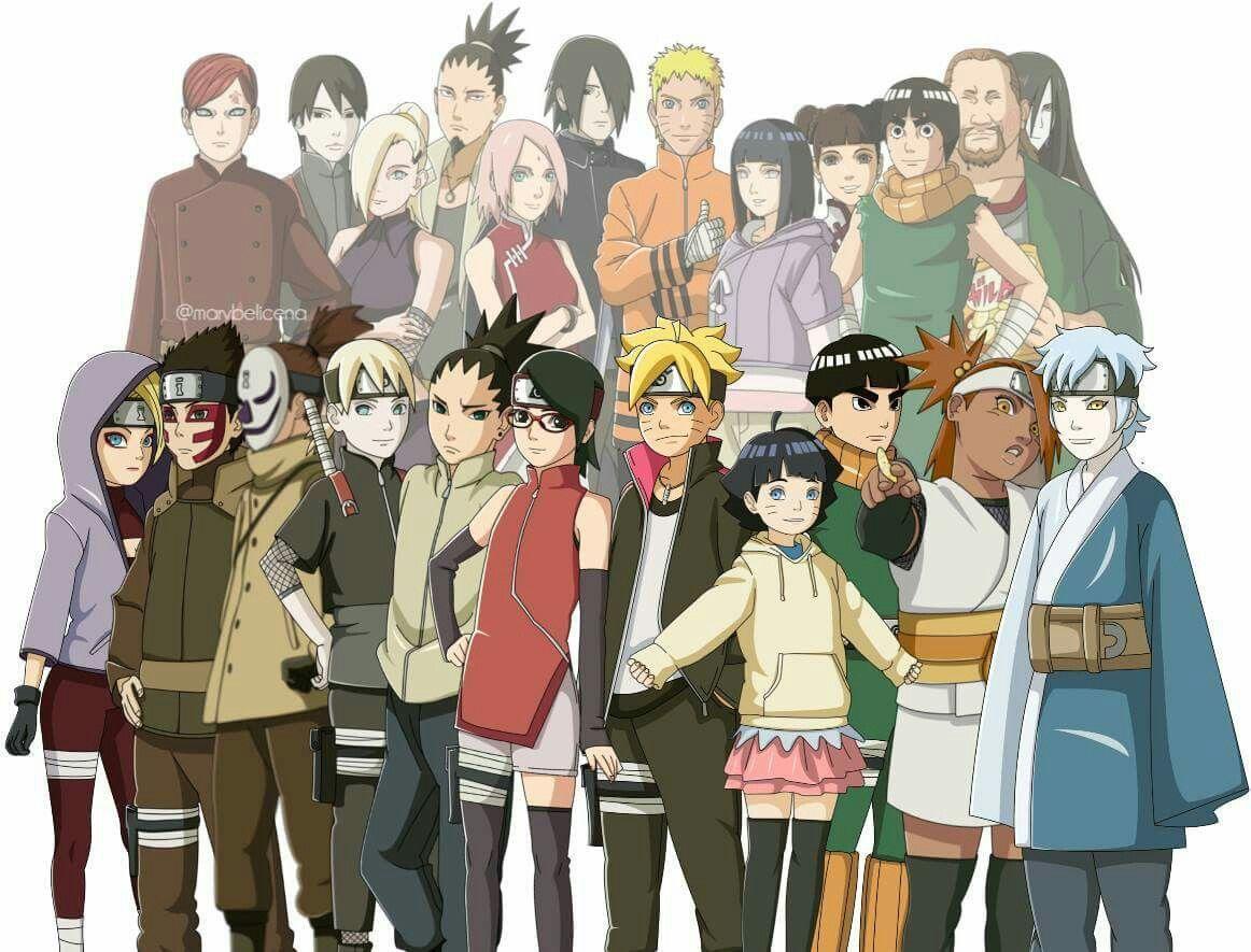 боруто список персонажей с фото там
