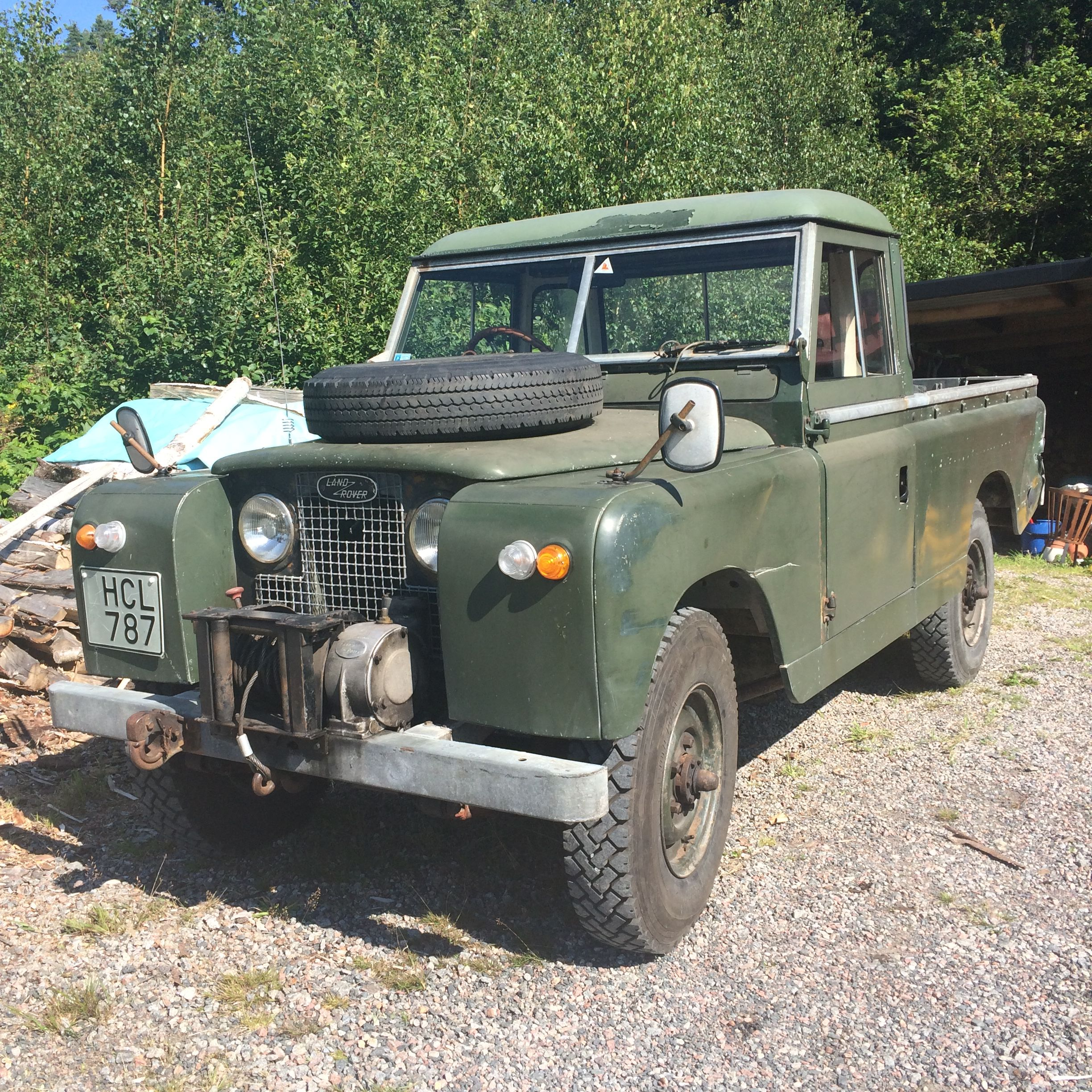 Land Rover Series Iia 109 Petrol Truck Cab From 1963 Completely Original With Factory Mounted Winch
