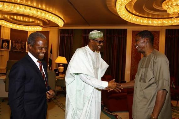 Pastor Adeboye meets Buhari Osinbajo inside Aso Rock [PHOTOS]  Report has it that the General Overseer of the Redeemed Christian Church of God Pastor Enoch Adeboye is currently in a meeting with President Muhammadu Buhari and Vice President Yemi Osinbajo at the Presidential Villa Abuja. Adeboye who at about 12.30pm arrived the Villa in the vehicle of the Vice President was immediately ushered into Buharis office. Adeboye arrived the Villa shortly after the visit of the Liberian President…