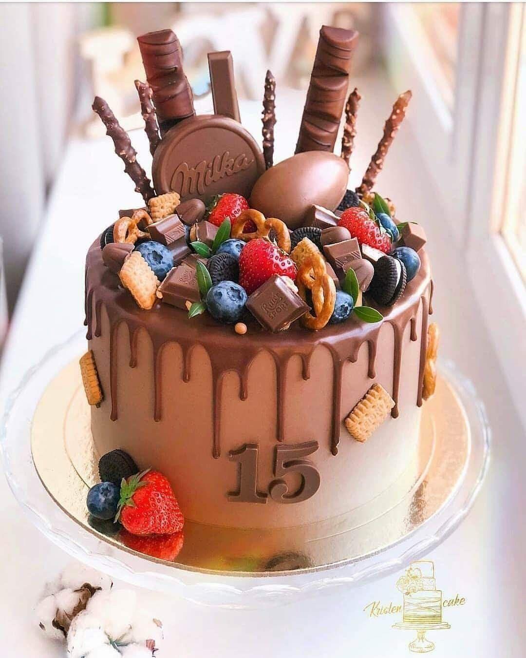 Bolo De Aniversario 15 Anos Com Imagens Bolo Drip Cake Bolo